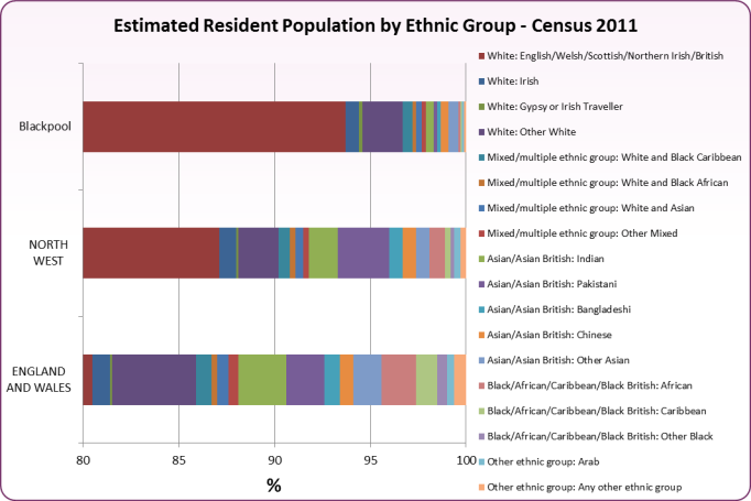 Figure 1 - Estimated resident population by ethnic group and sex, Census 2011
