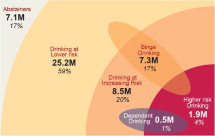 Figure 1 - The distribution of drinkers